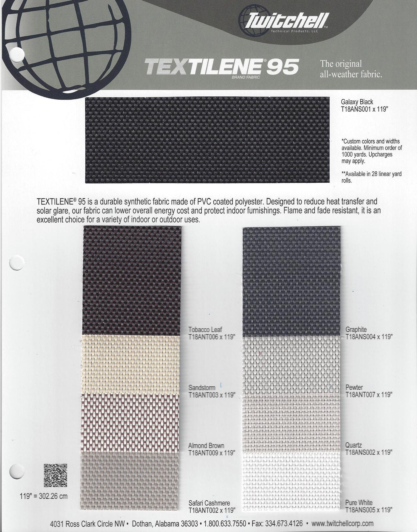 Fabric Colors 95% TEX