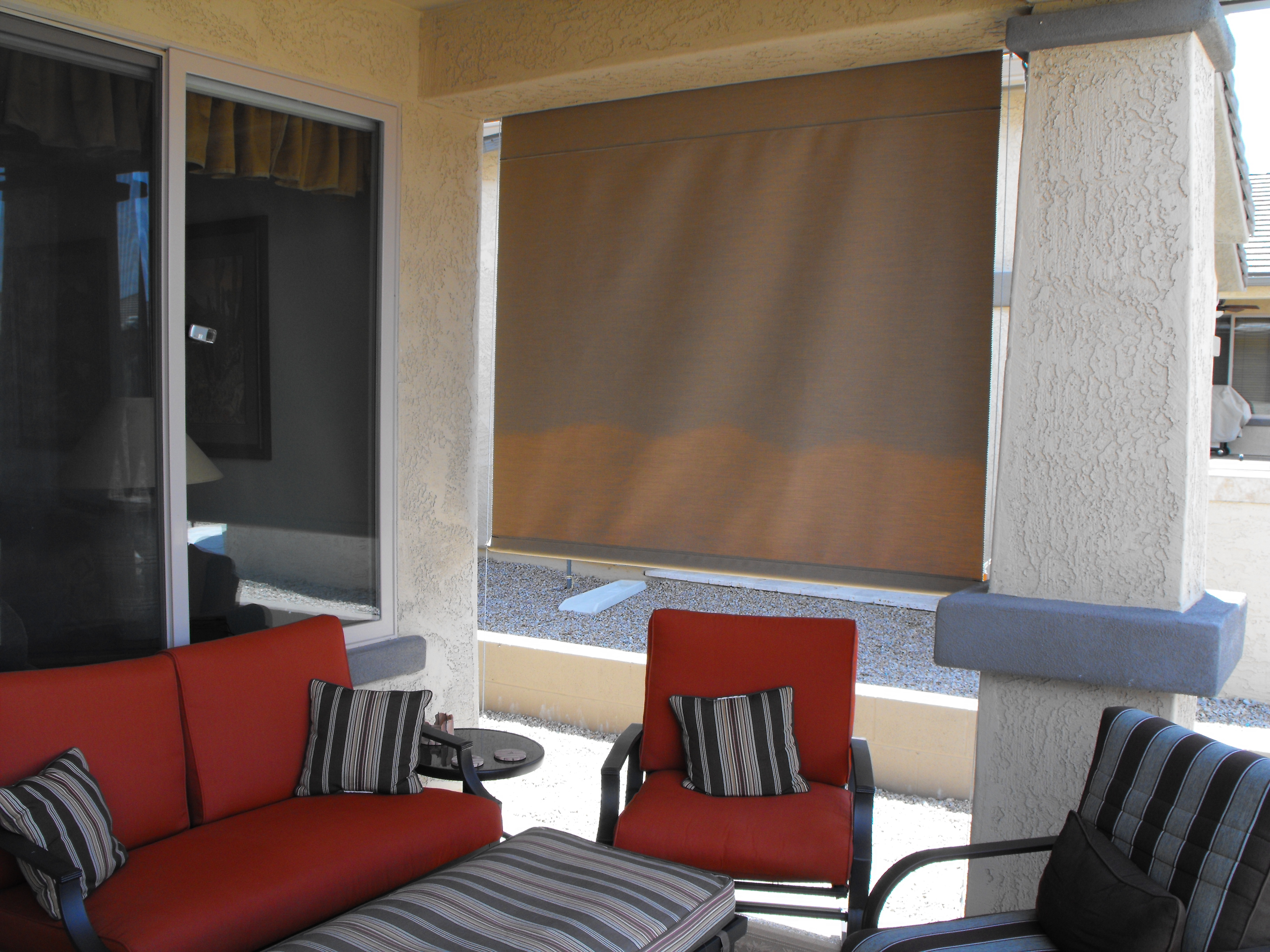 roll up shade crank system 100 sunbrella fabric - Roll Up Shades