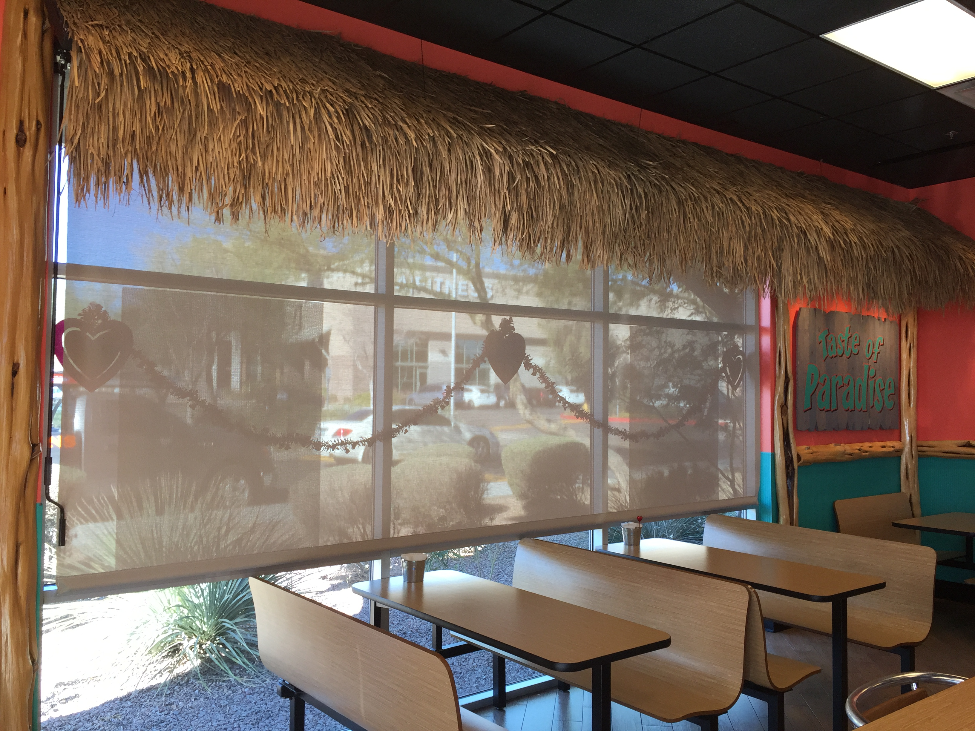 Roll Down Shades for Restaurants