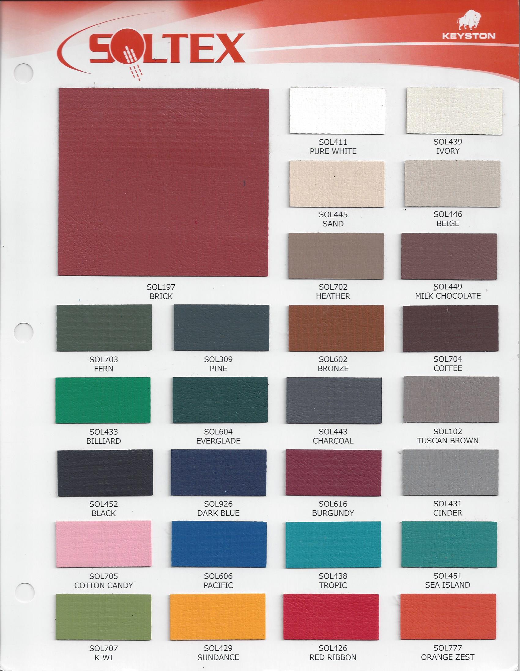 Colors in Vinyl Plastic