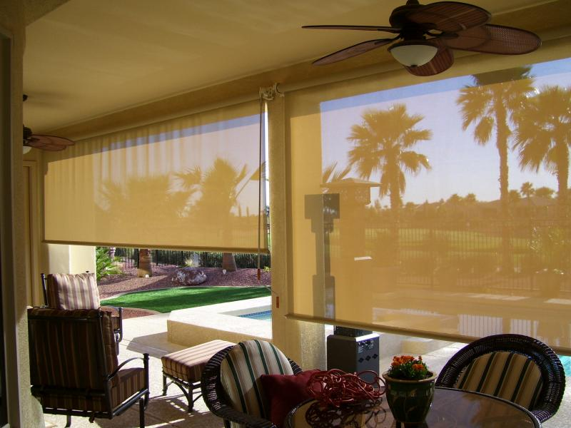 Patio Roll Down Shades Corte Bella Sun City West, Arizona