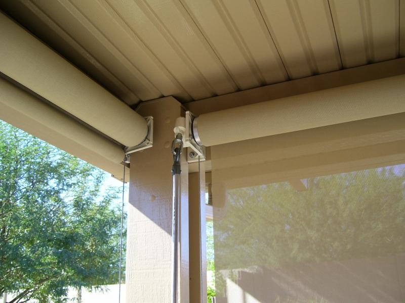 PATIO ROLL DOWN SHADES CRANK SYSTEM CHANDLER, ARIZONA