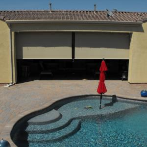 PATIO ROLL DOWN SHADES CRANK SYSTEM, MESA ARIZONA.