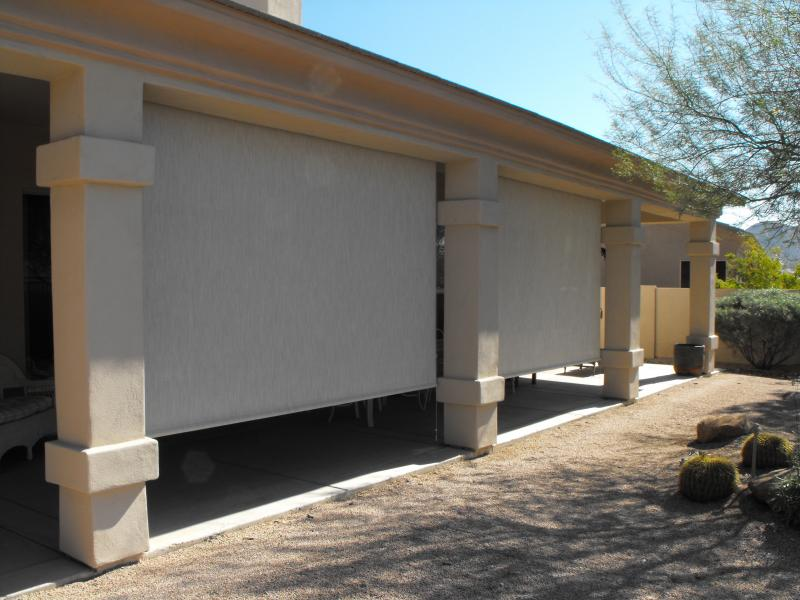 PATIO ROLL DOWN SHADES TEMPE,ARIZONA.