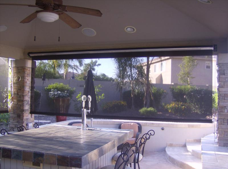 ROLL DOWN SHADES FOR PATIOS TEMPE,ARIZONA